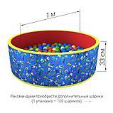 Сухой бассейн «Веселая поляна» 100 шариков, фото 5