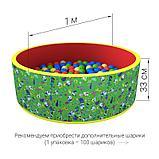 Сухой бассейн «Веселая поляна» 100 шариков, фото 7
