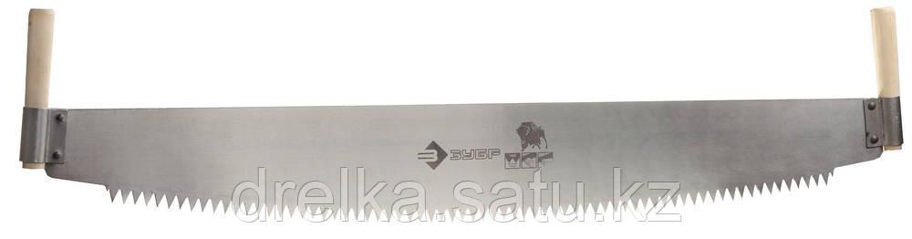 Пила двуручная ЗУБР 1 м, шаг 12 мм, с деревянными рукоятками