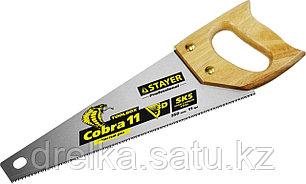 Ножовка многоцелевая компактная (пила) COBRA TOOLBOX 350 мм,11 TPI, прямой мелкий зуб, фото 2