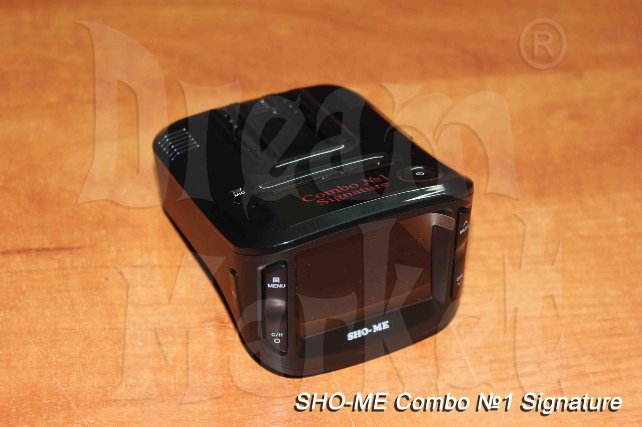 Sho-Me Combo 1 Signature, видеорегистратор, радар-детектор, GPS, база камер