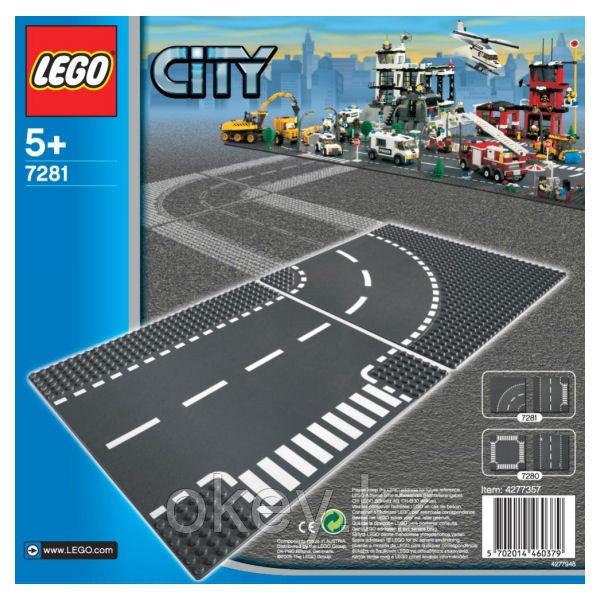 LEGO City: Т-образный перекрёсток и поворот 7281