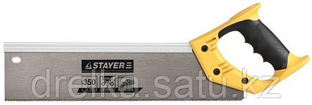 Ножовка для стусла c усиленным обушком (пила) 350 мм, 12 TPI, прямой зуб, для точного реза, STAYER, COBRA 12, фото 2