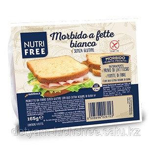 """Хлеб без глютена, белый """"Morbido a fette Bianco"""", Nutrifree, Италия."""