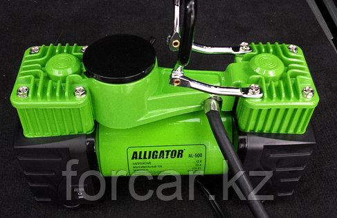 Цельнометаллический компрессор двухпоршневой ALLIGATOR AL-500, фото 2