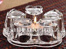 Подставка для подогрева чайника сердечки стеклянная