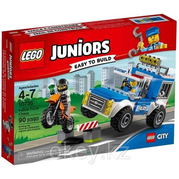 LEGO Juniors: Погоня на полицейском грузовике 10735