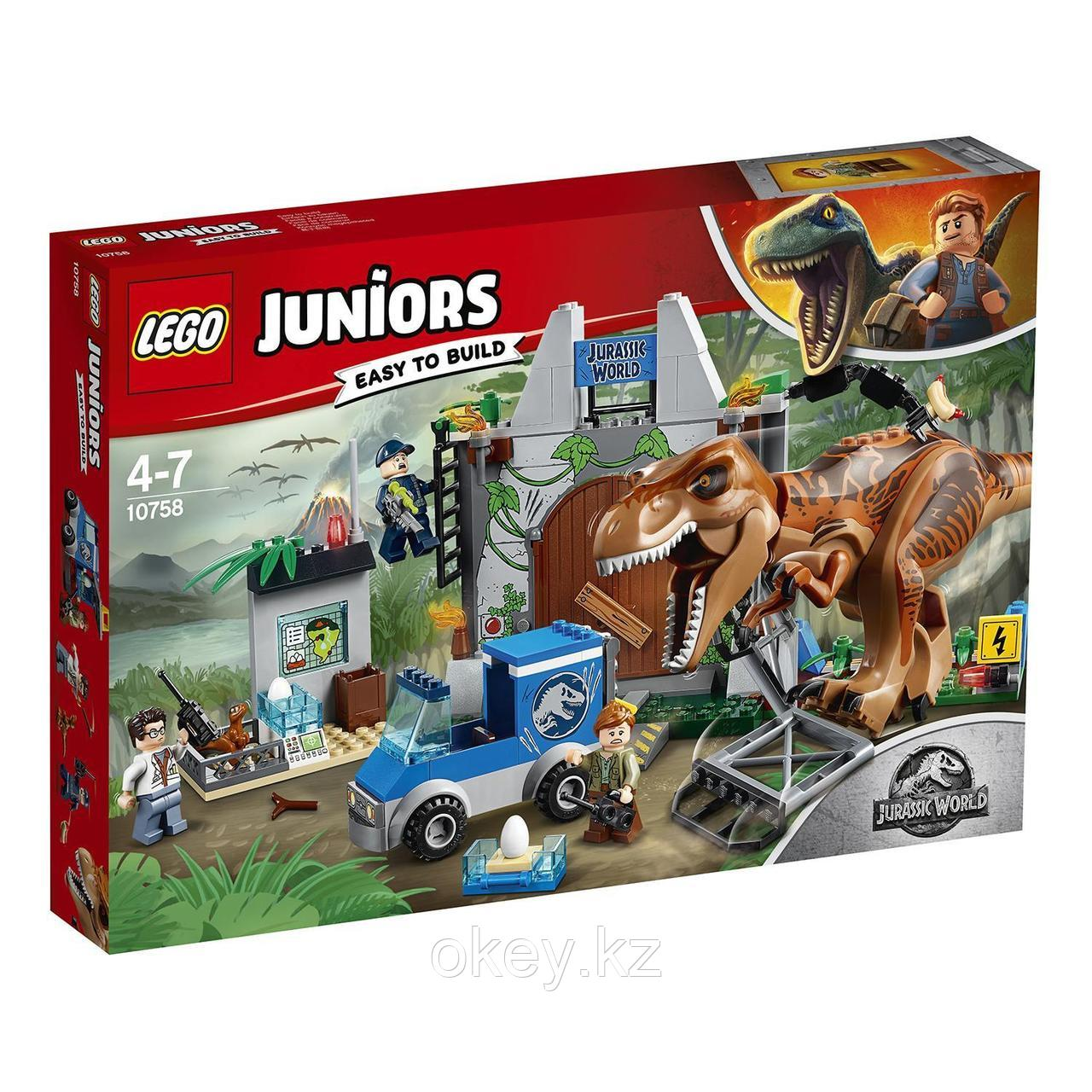 LEGO Juniors: Jurassic World — Побег ти-рекса 10758