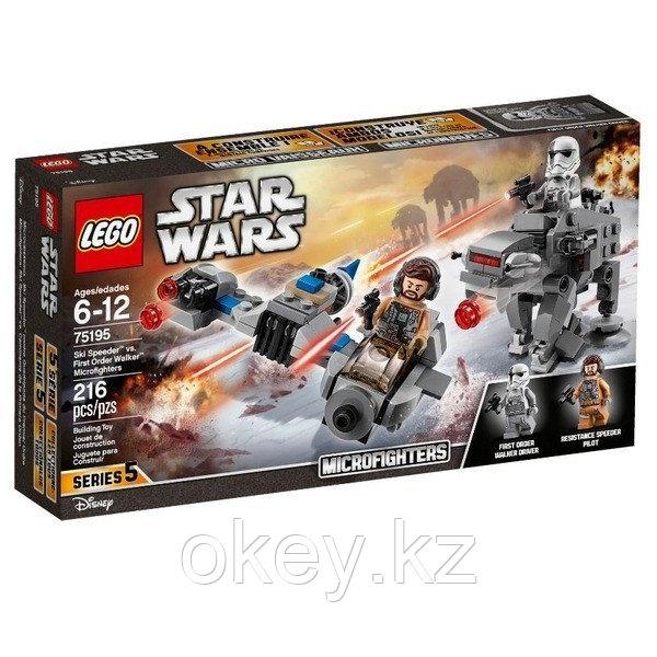 LEGO Star Wars: Бой пехотинцев Первого Ордена против спидера на лыжах 75195