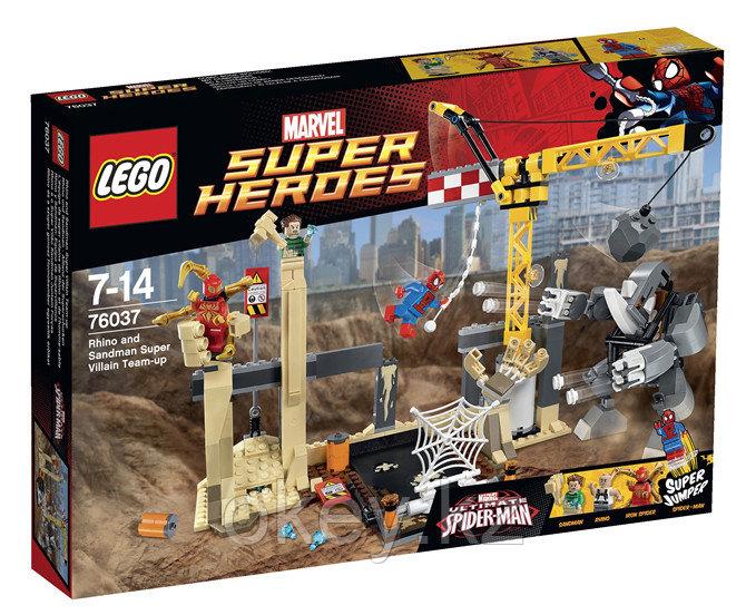 LEGO Super Heroes: Носорог и Песочный человек против Супергероев 76037