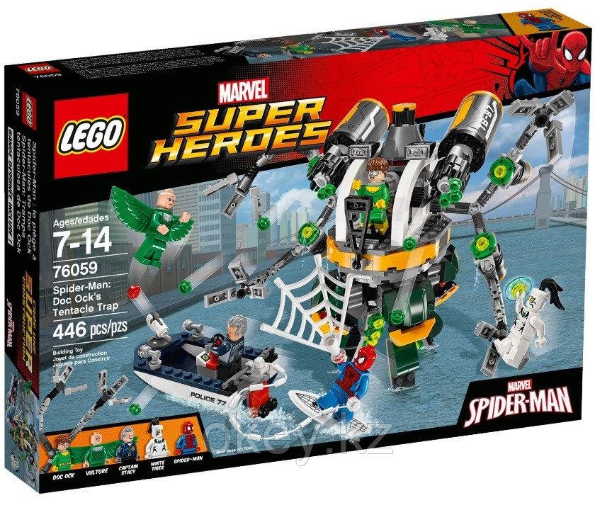 LEGO Super Heroes: Человек-паук в ловушке Доктора Осьминога 76059