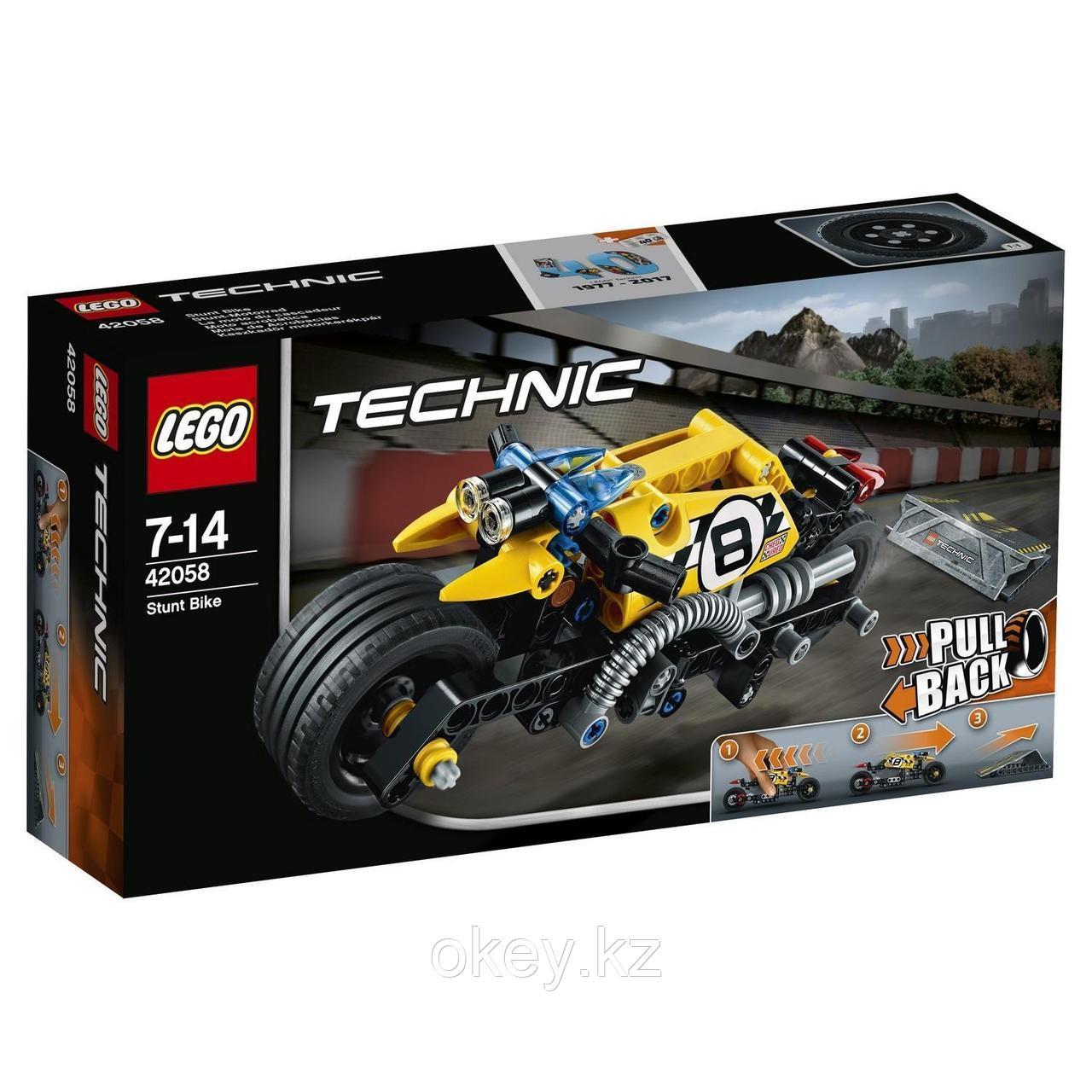 LEGO Technic: Мотоцикл для трюков 42058