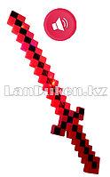 Меч Майнкрафт (Minecraft) музыкальный красный 58 см