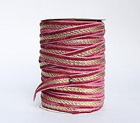 Декоративная лента для одежды, бордово-золотистая
