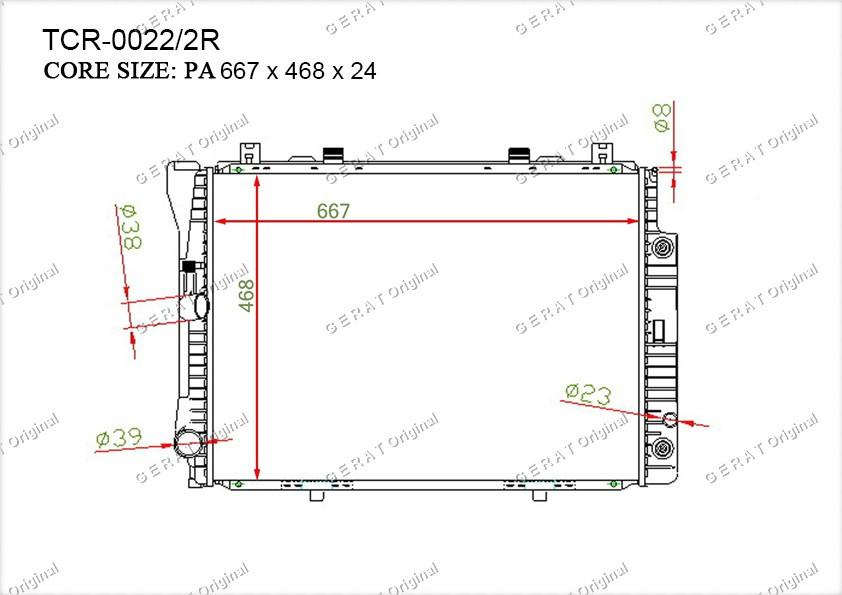 Радиатор основной MR-112/3R