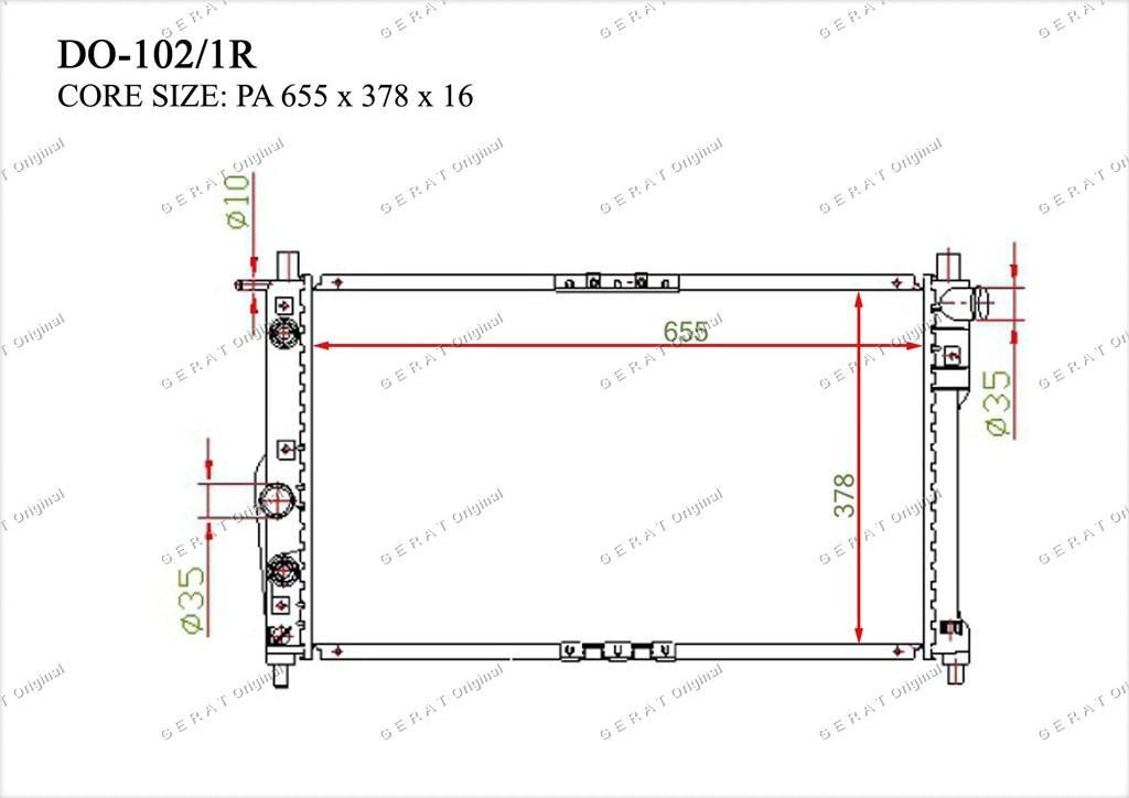 Радиатор основной TCR-0006/2R