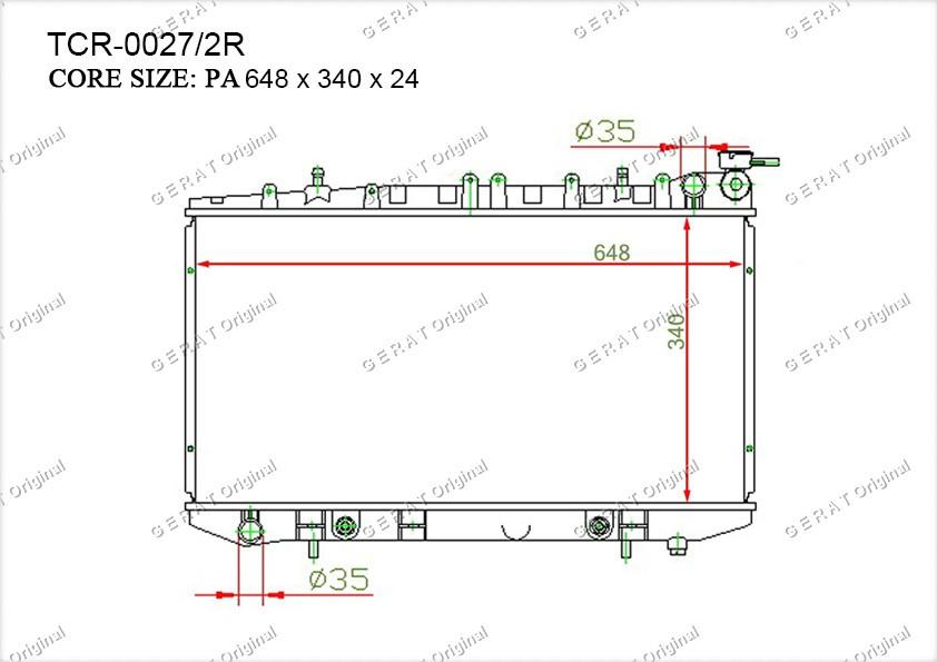 Радиатор основной NS-104/1R