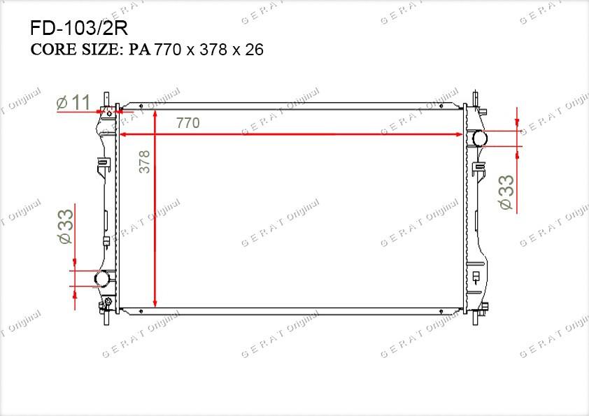 Радиатор основной YC1H8005CD