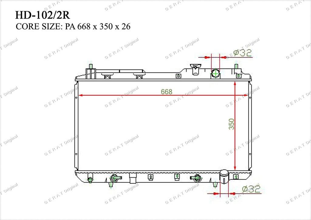 Радиатор основной TCR-0009/3R