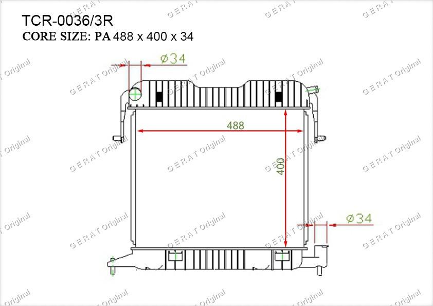 Радиатор основной OP-103/3R