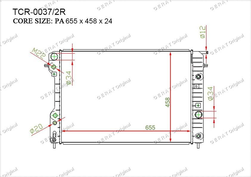 Радиатор основной OP-104/2R