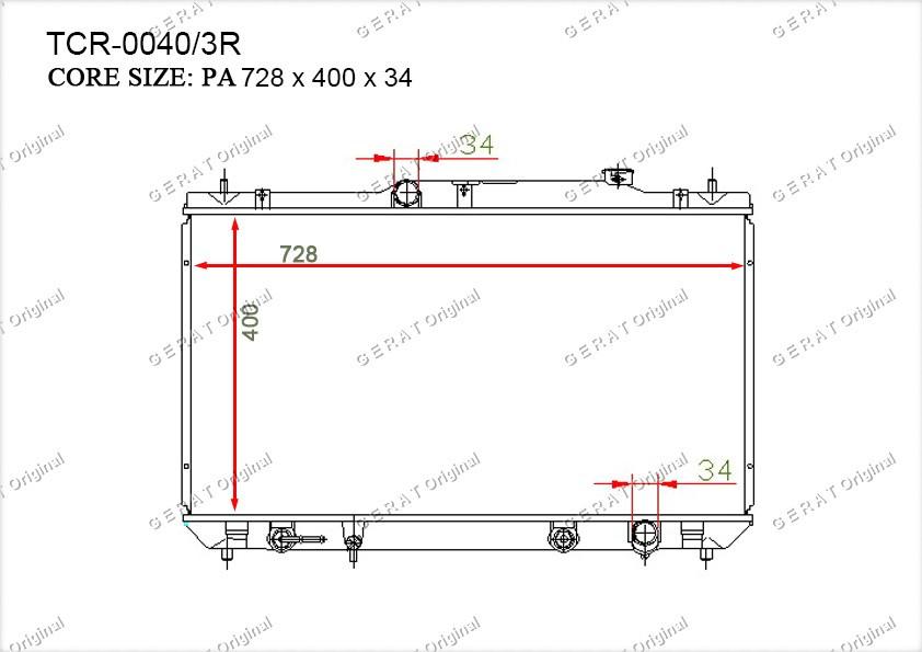 Радиатор основной TY-111/2R