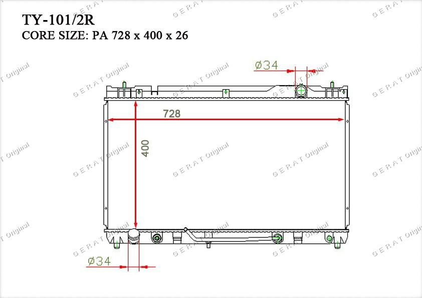 Радиатор основной TCR-0041/3R