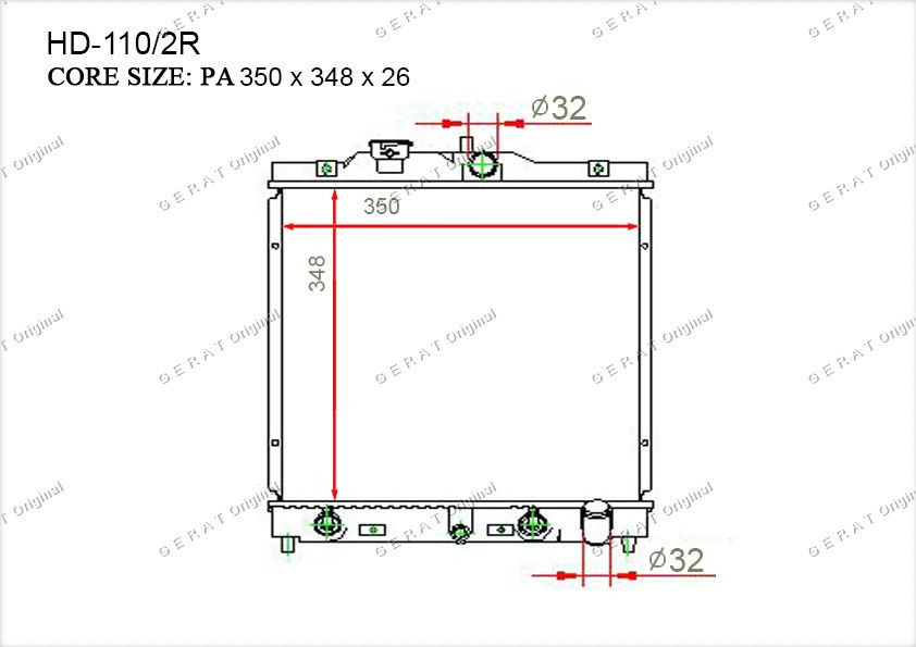 Радиатор основной TCR-0008/3R