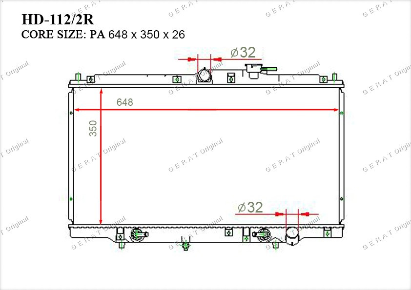Радиатор основной 19010P5L901
