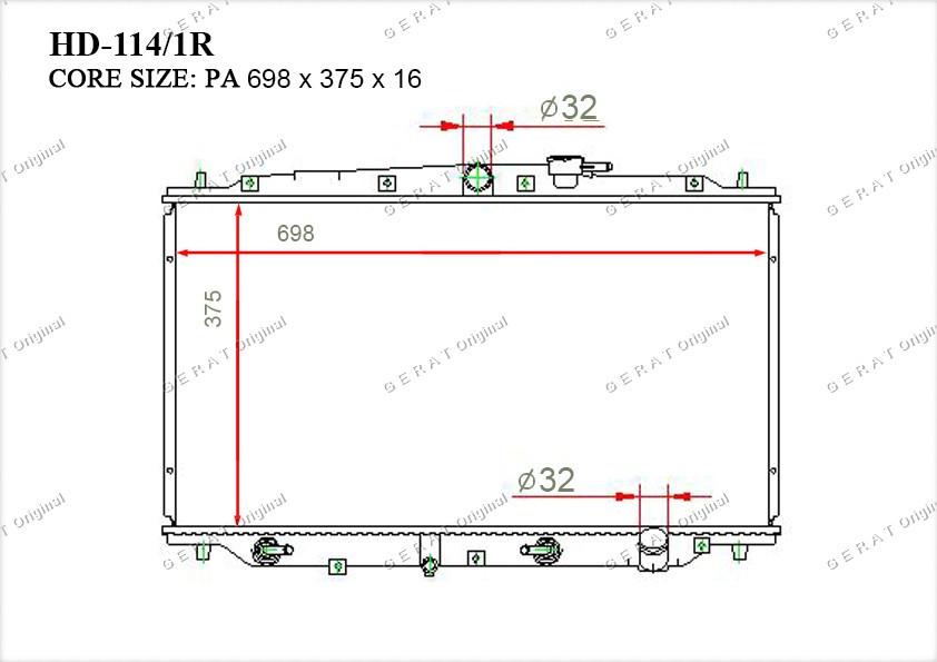 Радиатор основной 19010P14A02