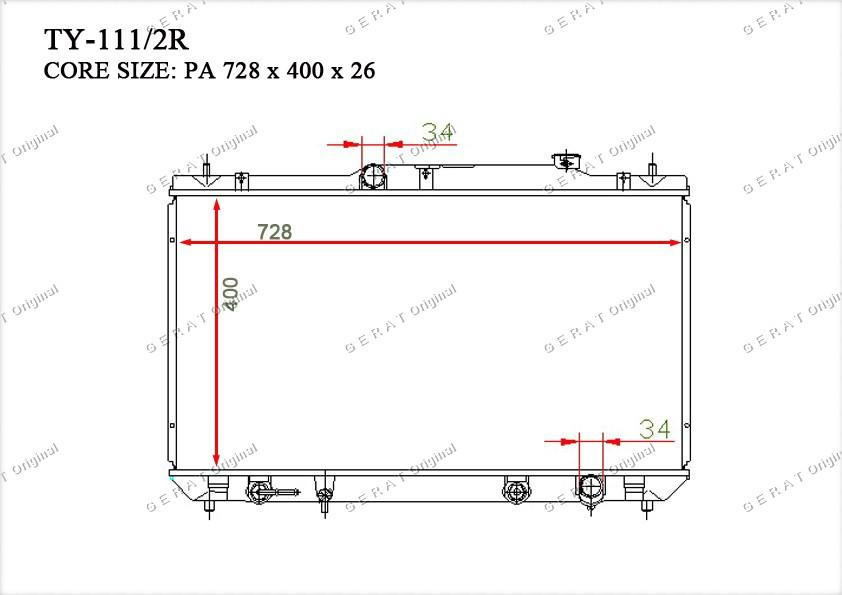 Радиатор основной TCR-0040/3R