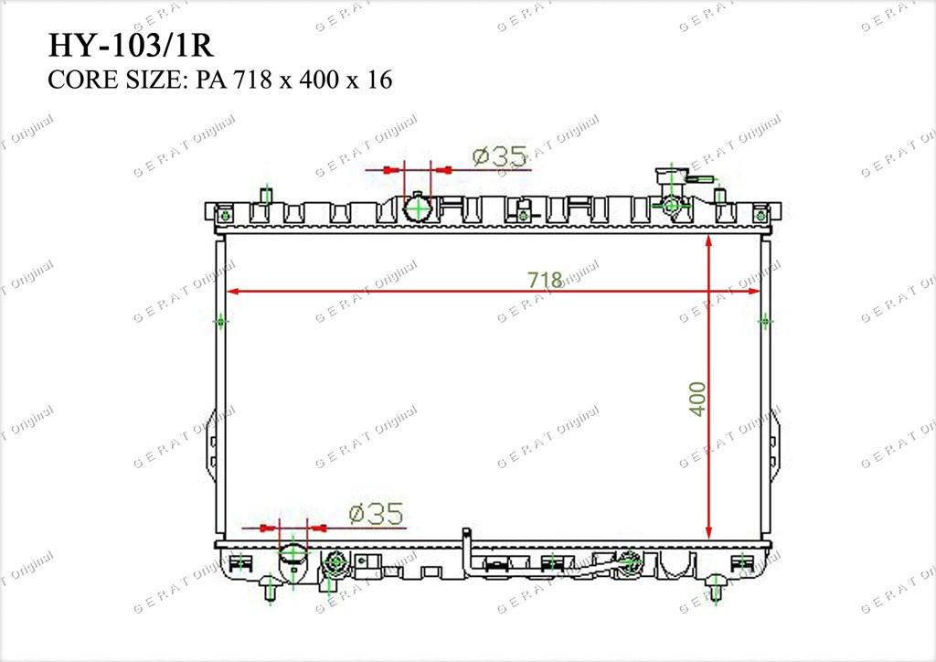Радиатор основной 2531026050