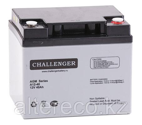 Аккумулятор Challenger A12-40A (12В, 40Ач), фото 2