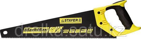 Ножовка универсальная (пила) STAYER BlackMAX 400 мм, 7TPI, тефлон покрытие, рез вдоль и поперек волокон, фото 2
