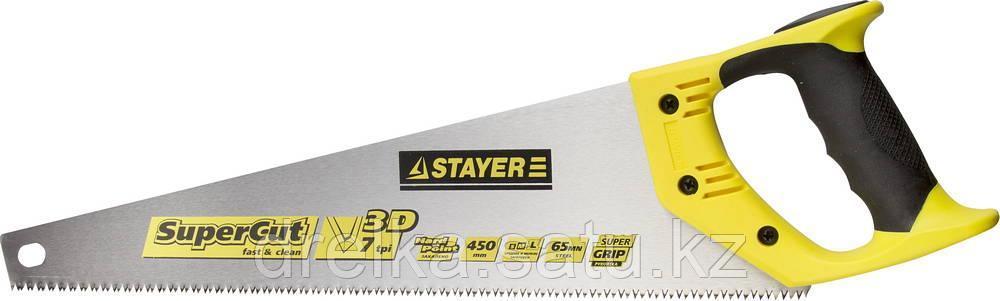 Ножовка универсальная SuperCut 450 мм, 7 TPI, 3D зуб, рез вдоль и поперек волокон