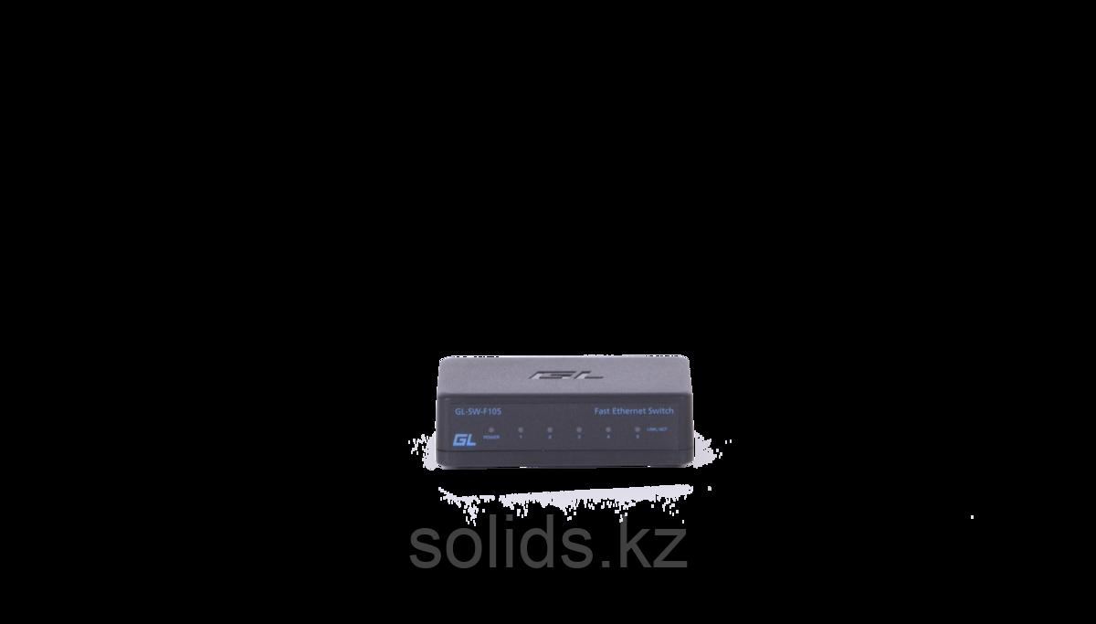 Коммутатор GIGALINK неуправляемый 5 портов 10/100 мб/с, пластиковый корпус, внешний блок питания, шт