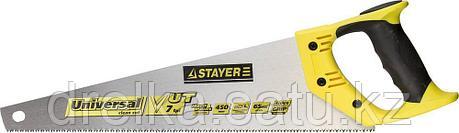 Ножовка универсальная (пила) STAYER Universal 450 мм, 7 TPI, универсальный зуб, рез вдоль и поперек волокон, фото 2