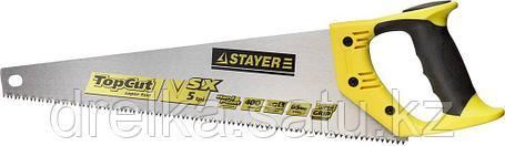 Ножовка по дереву (пила) STAYER TopCut 400 мм, 5 TPI, прямой крупный зуб 5 TPI: быстрый рез поперек волокон, фото 2