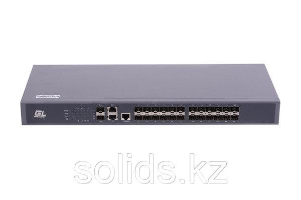 Управляемый коммутатор L2 GIGALINK 24 SFP 100Mb/s портов, 2 TX 1000mb/s, 2 Combo TX/SFP 1000Mb/s, шт