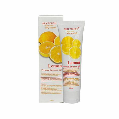 Смазка на водной основе Silk Touch с ароматом лимона 100 ml