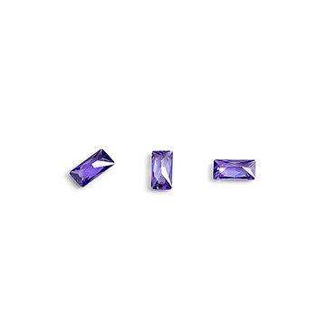 """Кристаллы для объемной инкрустации """"TNL"""" - багет №3 (фиолетовый) (10 шт./уп)"""