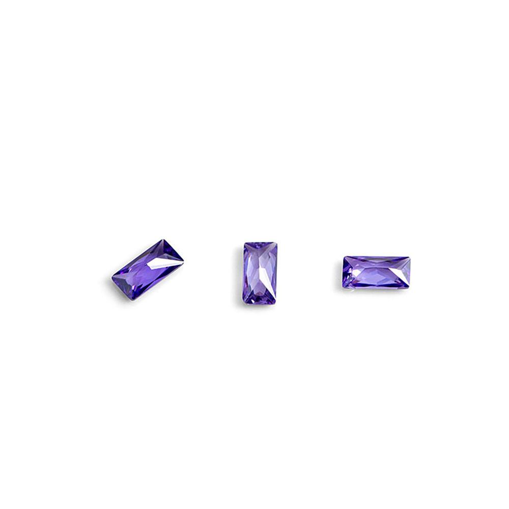 """Кристаллы для объемной инкрустации """"TNL"""" - багет №4 (фиолетовый) (10 шт./уп) - фото 1"""