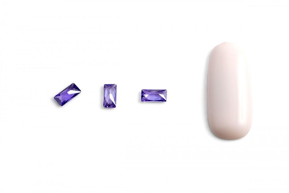 """Кристаллы для объемной инкрустации """"TNL"""" - багет №4 (фиолетовый) (10 шт./уп) - фото 2"""