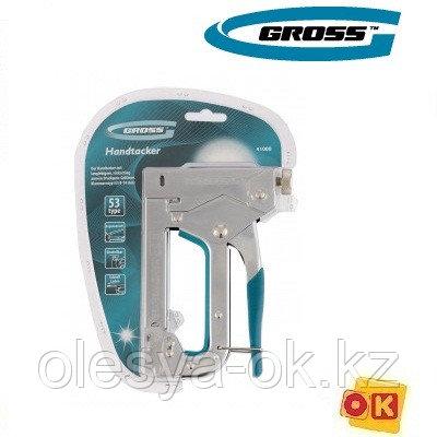 Степлер мебельный,стальной,4-14 мм. GROSS 41000