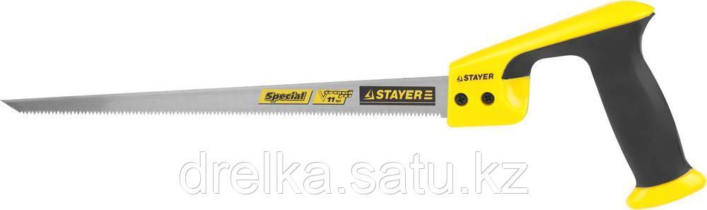 Ножовка выкружная (пила) STAYER COMPASS 300 мм, 11 TPI, с заточенным острием, мелкий зуб, для точных работ