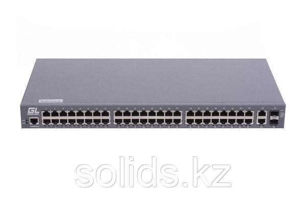 """Управляемый коммутатор L2 GIGALINK 48 BASE-TX 10/100Mb/s, 2 10/100/1000 BASE-TX, 2 SFP 1000Mb, 19"""", шт"""