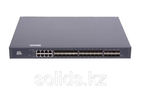 Управляемый коммутатор L3 GIGALINK уровня 3, 24 порта 100/1000BaseX SFP, 8 портов 10/100/1000BaseT, шт