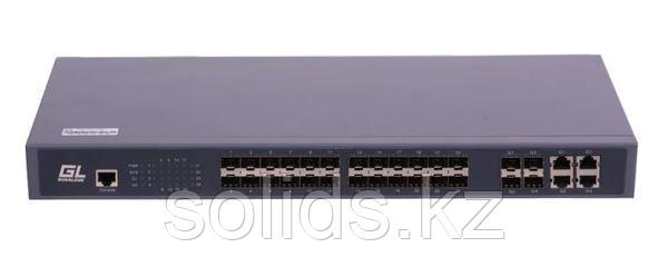 Управляемый коммутатор L2 GIGALINK 24 SFP 1000Mb/s портов, 4 Combo TX/SFP 1000Mb/s, 1 Console. 1U, шт