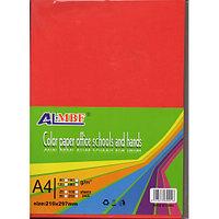 Цветная офисная бумага А4, 100 листов 5 цветов в упаковке