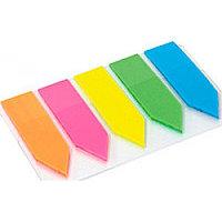 Закладки-стикеры пластиковые Fantastick 5х25шт неон микс